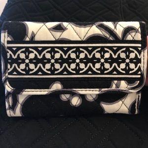 Vera Bradley black/white floral quilted wallet